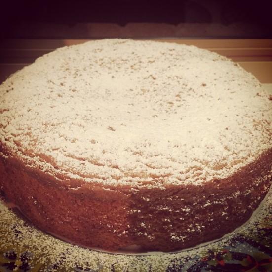 Roasted Almond & White Chocolate Mudcake